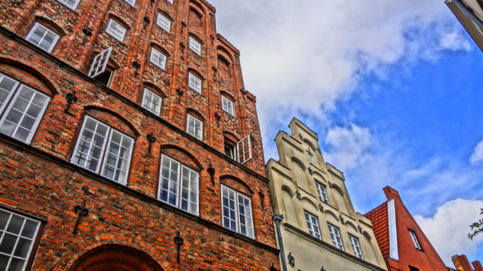 Old houses in the former Hanseatic Super Power of Lübeck in Northern Germany
