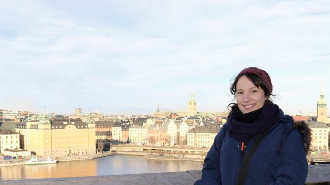 Me in February 2017 in Sweden's capital Stockholm