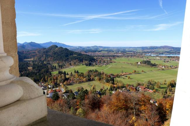View from the balcony of Neuschwanstein Castle