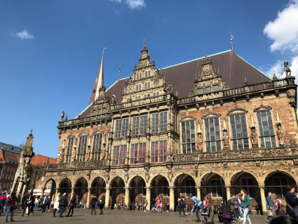 The market square in Bremen with Roland and Town Hall
