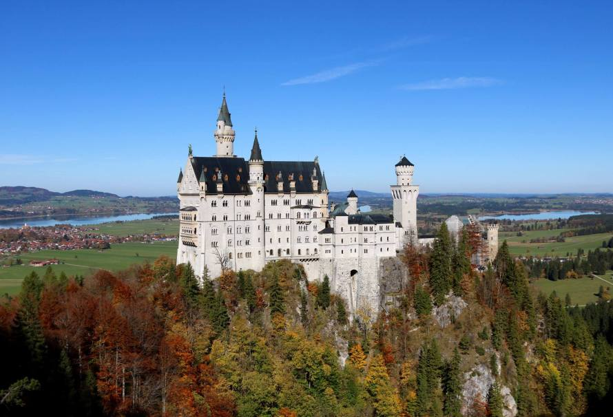 From the Marienbrücke, you get some of the best views of the Neuschwanstein Castle